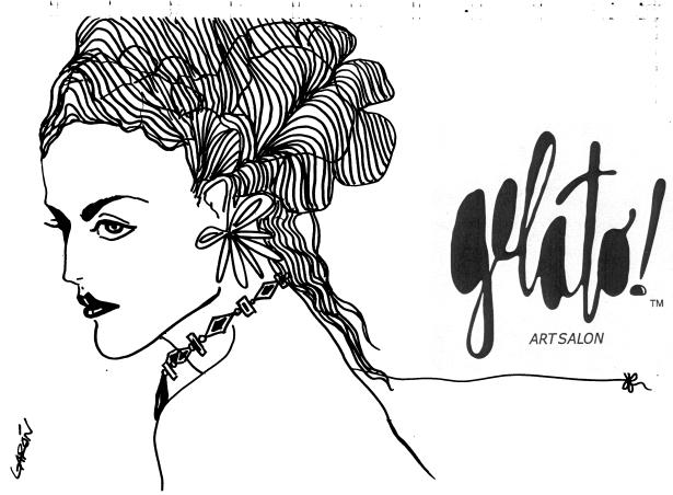 Gelato! Elegant girlGelato! logo